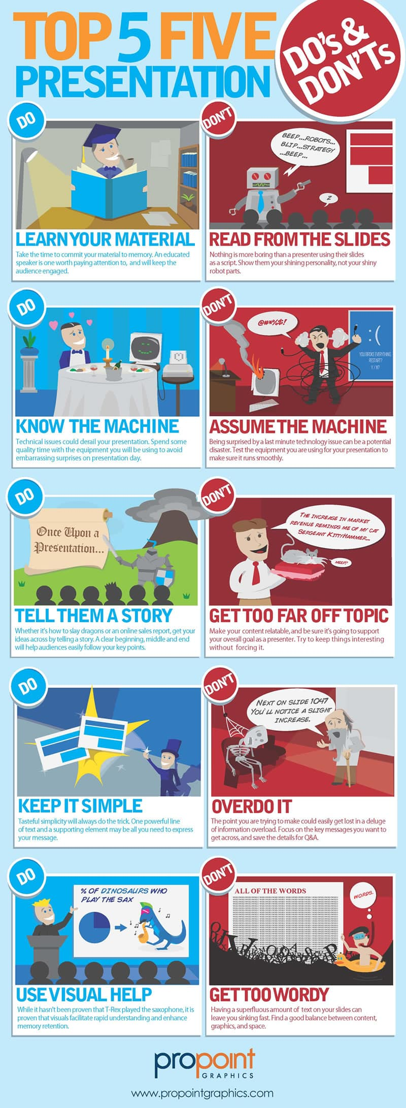 Top Five Presentation Do's and Don'ts (Infographic)