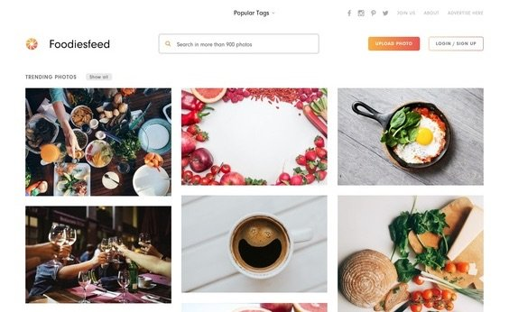 Foodiesfeed Free Food Stock Photography website