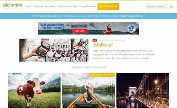 Picjumbo Free Stock Photography website