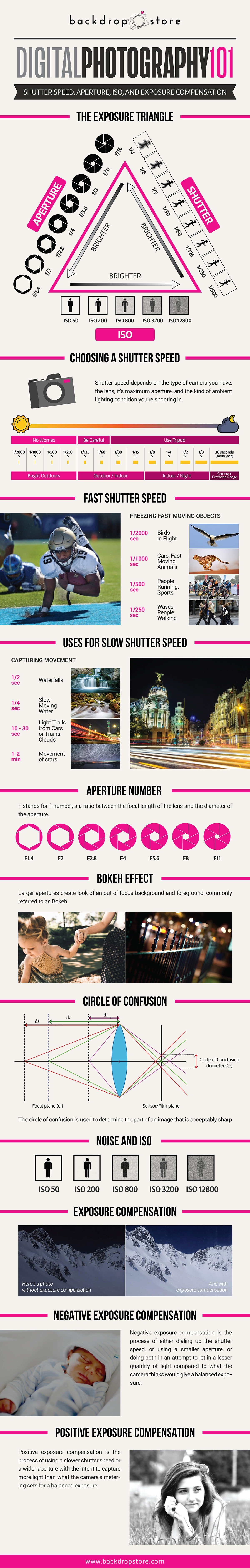 Digital Photography 101 - Shutter speed, Aperture, ISO and Exposure Compensation