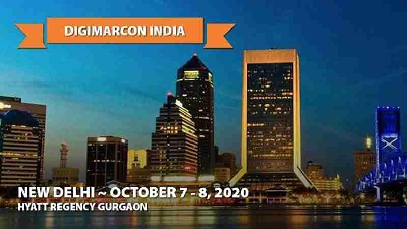 DigiMarCon India 2020   October 7 - 8   New Delhi, India