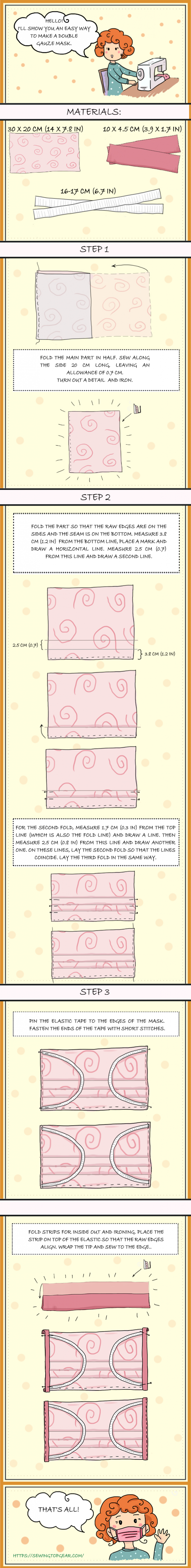 face mask sewing pattern infographic