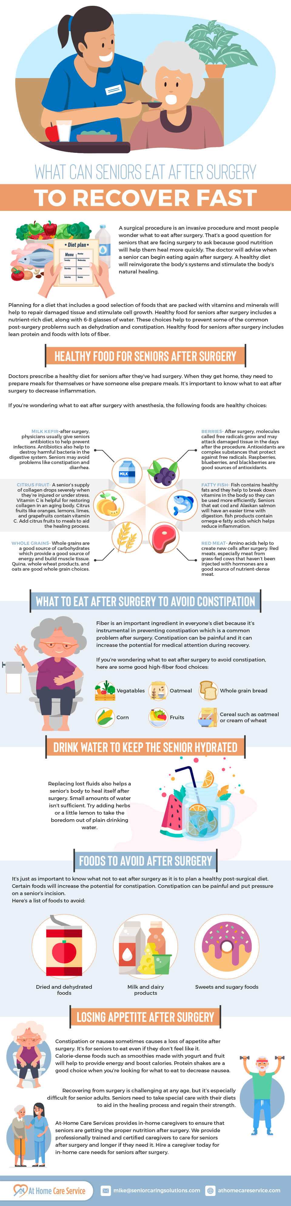 What Can Seniors Eat After Surgery