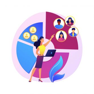 Audience segmentation abstract concept vector illustration.