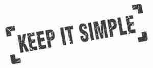 Keep it simple stamp