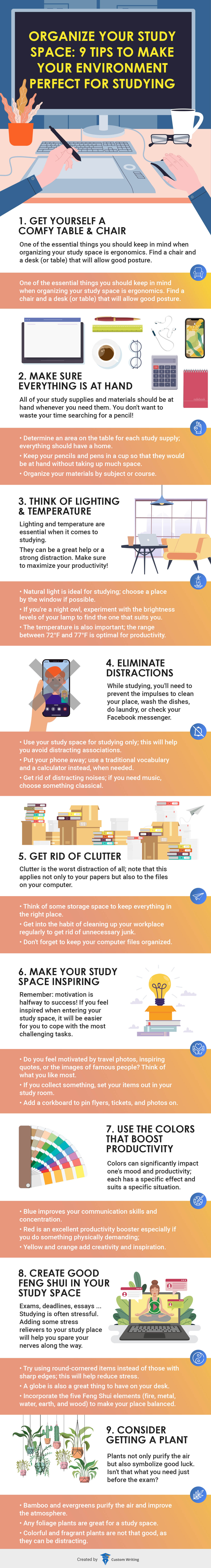 9 Tips to Create the Perfect Study Environment (Infographic)