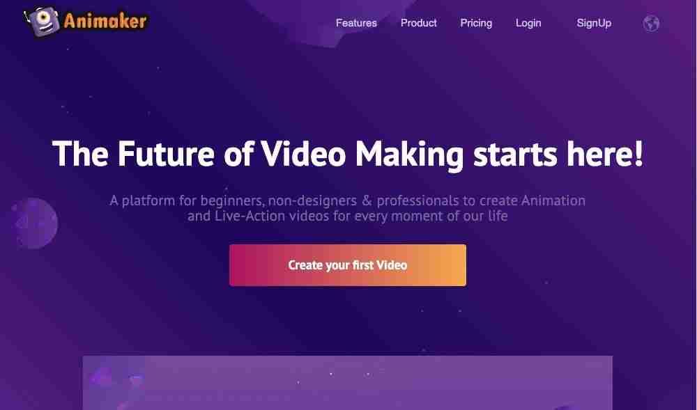 Animaker Video Making Tool