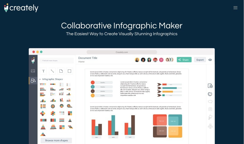 Creately Infographic maker