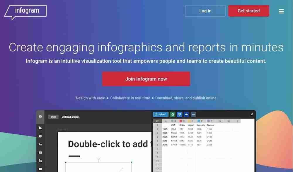 Infogram website