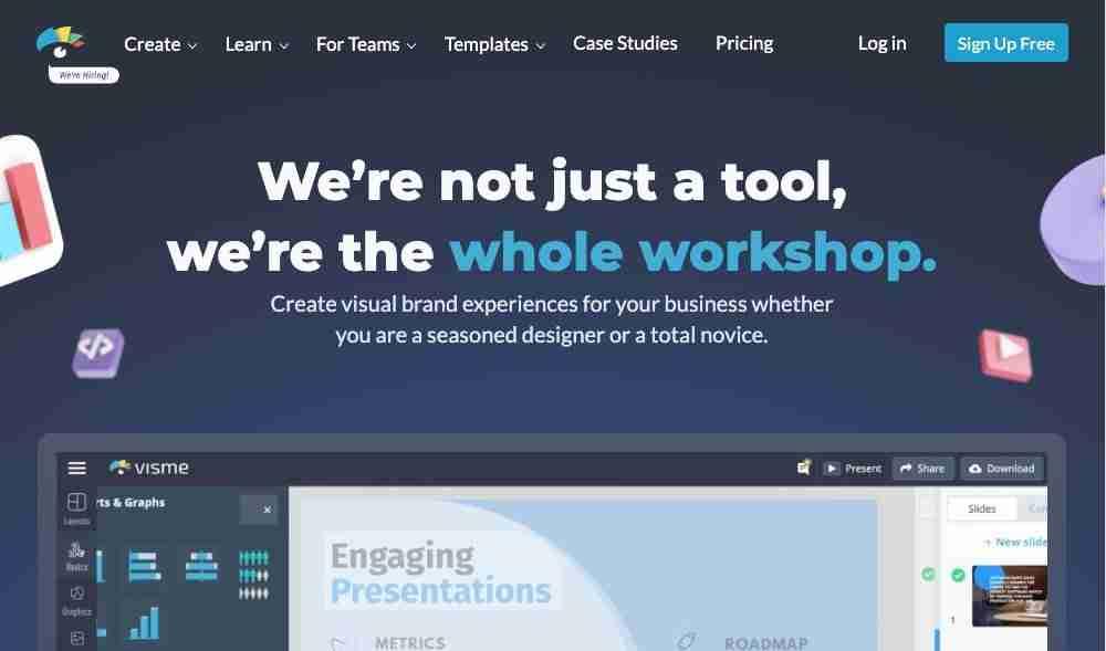 Visme Infographic Maker