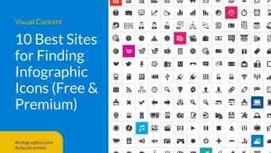 Infographic icons sites